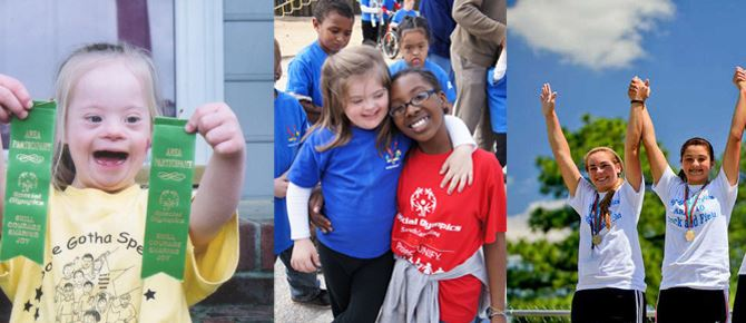 Collage of Special Olympics Events