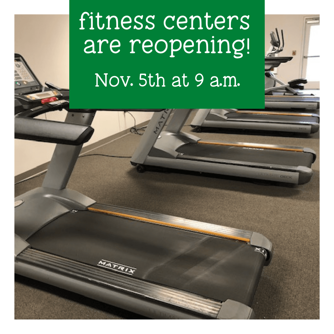 fitness centers are reopening!